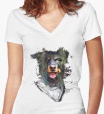 Lee Baxter Women's Fitted V-Neck T-Shirt