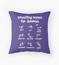 wrestling moves for dummies Throw Pillow