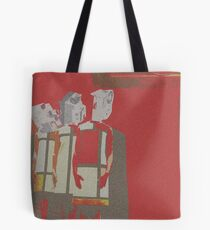 """""""Under Surveillance"""" - from an original paper collage Tote Bag"""