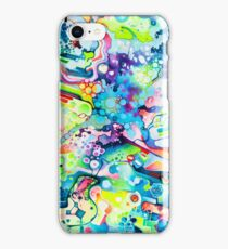 Parts of Reality Were Missing, But Which Parts? - Watercolor Painting iPhone Case/Skin