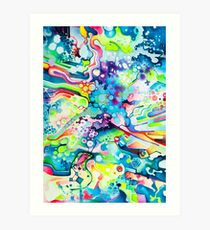 Parts of Reality Were Missing, But Which Parts? - Watercolor Painting Art Print