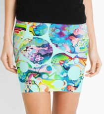 Parts of Reality Were Missing, But Which Parts? - Watercolor Painting Mini Skirt