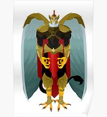 greif knight winged warrior Poster