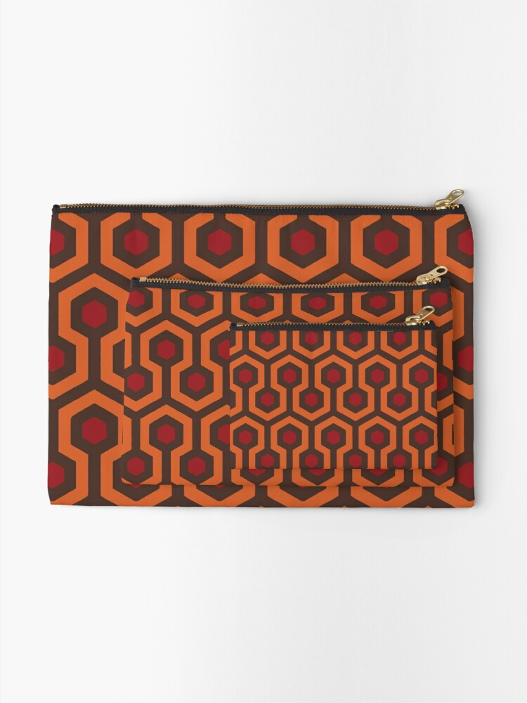 Alternate view of REDRUM Overlook Hotel Carpet Stephen King's The Shining Zipper Pouch