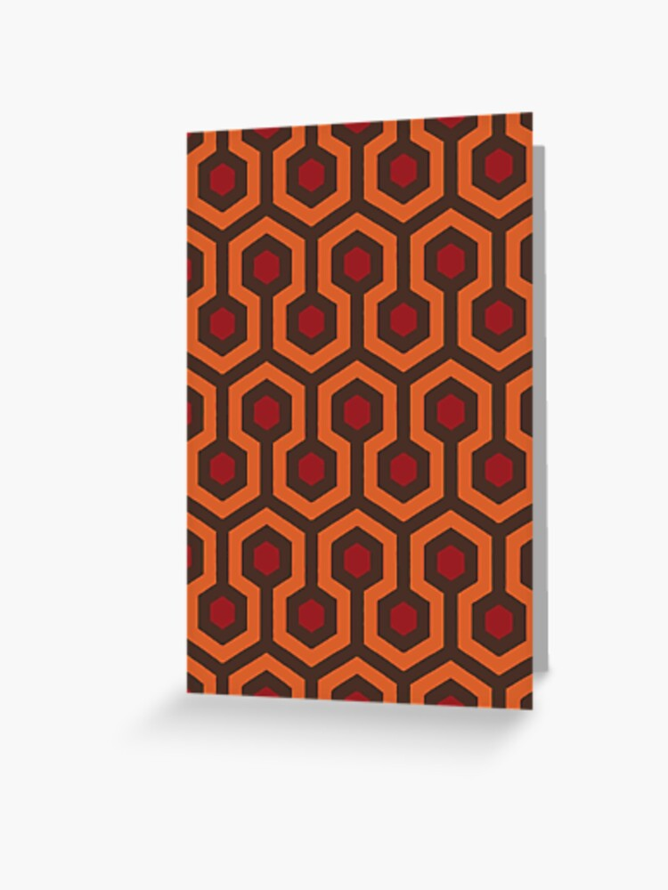 Redrum Overlook Hotel Carpet Stephen King S The Shining Greeting Card By Sandityche Redbubble