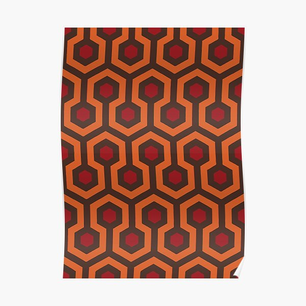 REDRUM Overlook Hotel Carpet Stephen King's The Shining Poster