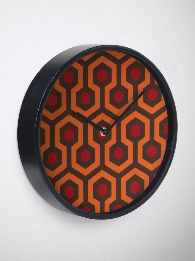 Alternate view of REDRUM Overlook Hotel Carpet The Shining Clock