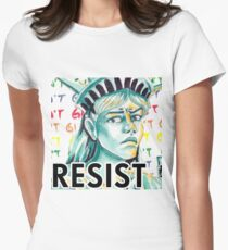 Statue Of Liberty - Rainbow  Womens Fitted T-Shirt