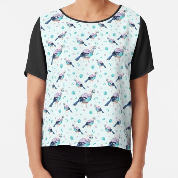 Blue Birds Chiffon Top