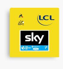 Team Sky Yellow Jersey 2017 - Le Tour De France Canvas Print