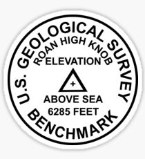 Roan High Knob, Tennessee USGS Style Benchmark Sticker