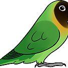 Lovebird Nigrigenis by Mariewsart