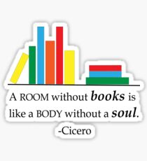 A Room Without Books Sticker