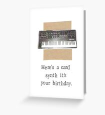 Synth It's Your Birthday Greeting Card