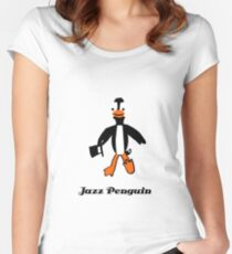 Jazz Penguin Women's Fitted Scoop T-Shirt