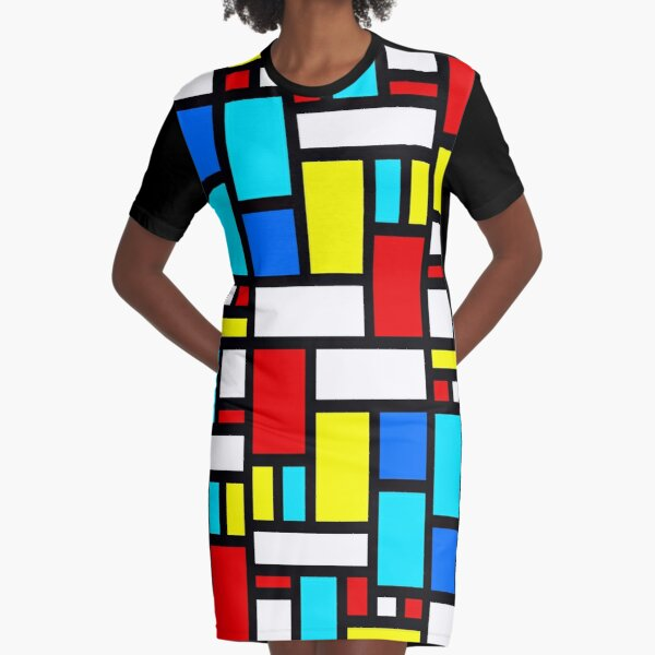 Bauhaus-esque Mid Century Modern 4 Graphic T-Shirt Dress