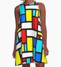 Bauhaus-esque Mitte Jahrhundert Modern 4 A-Linien Kleid