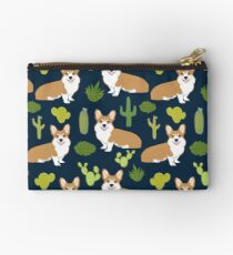 Corgi welsh corgi southwest cactus dog dogs dog breed dog pattern pet friendly Studio Pouch