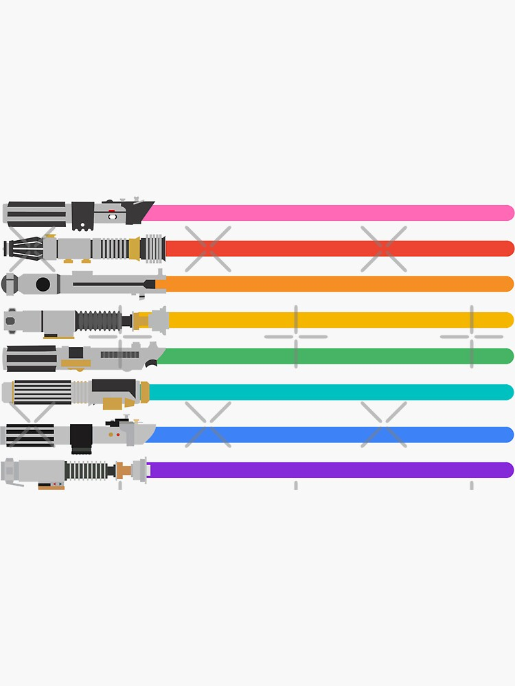 Pride Lightsabers by kcgfx