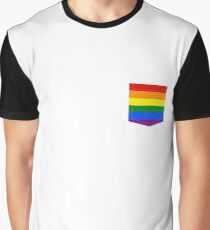 lgbt+ pride flag pocket Graphic T-Shirt