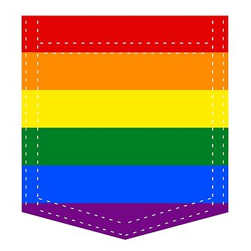 lgbt+ pride flag pocket by varnel