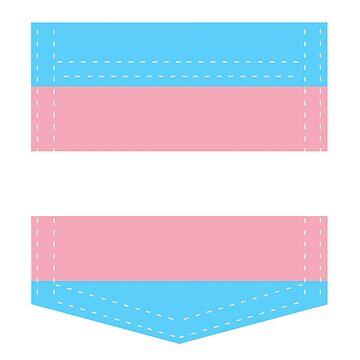 transgender pride flag pocket by varnel