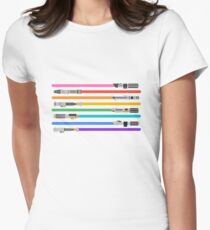 LGBT+ Lightsabers Womens Fitted T-Shirt