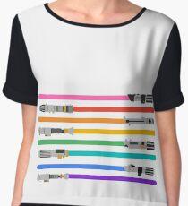 LGBT+ Lightsabers Women's Chiffon Top