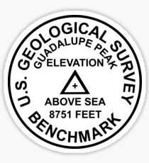 Guadalupe Peak, Texas USGS Style Benchmark Sticker