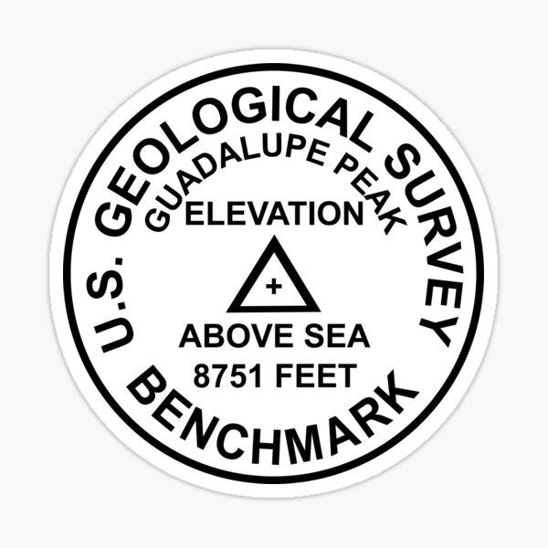 Guadalupe-Spitze, Texas USGS-Art-Benchmark Sticker