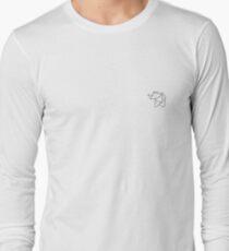Origami Elephant Long Sleeve T-Shirt