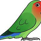 Lovebird Roseicollis by Mariewsart
