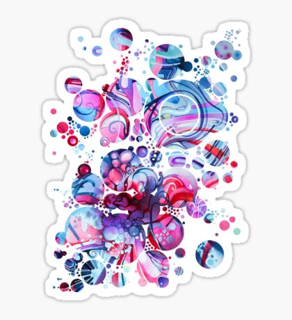 Your Love The Same As Mine - Watercolor Painting Sticker