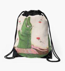 Alligator Ballerina Drawstring Bag