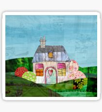 Patchwork cottage Sticker