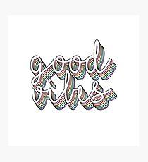 good vibes pastel  Photographic Print