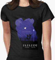 La La Land - Movie Poster Outline Womens Fitted T-Shirt