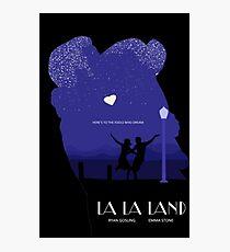 La La Land - Movie Poster Outline Photographic Print