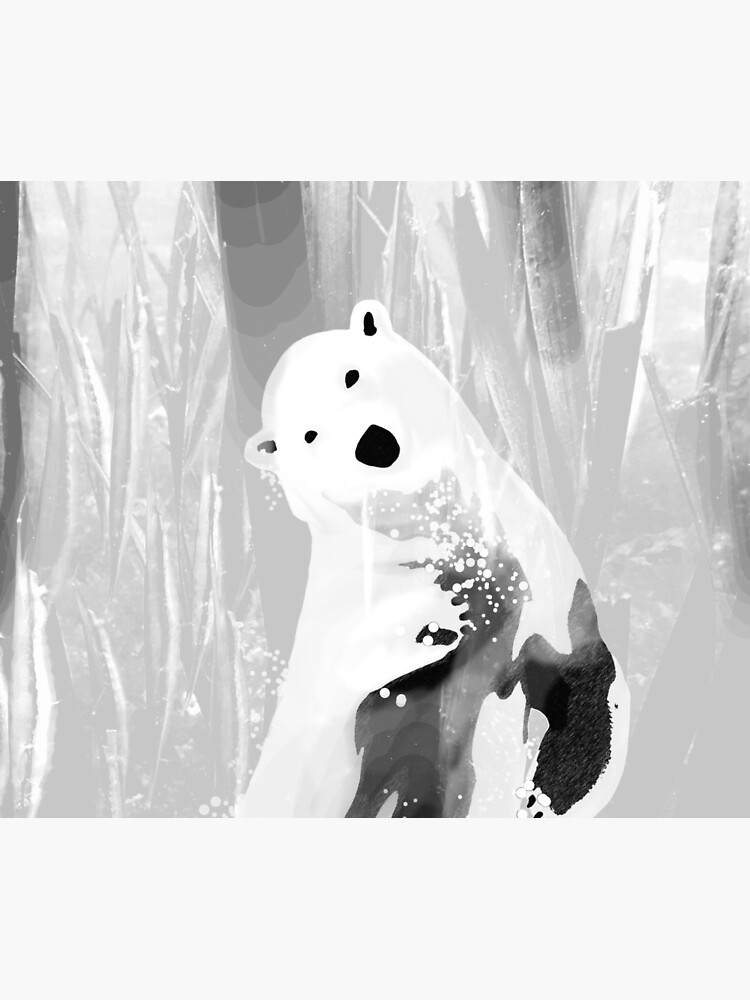 Unique Black and White Polar Bear Design  by oursunnycdays
