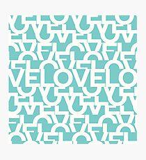 Hidden BLUE love message Photographic Print