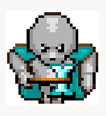 8bit Game Character: Knight of Steel Photographic Print