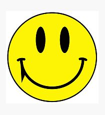 Yellow face smiling with fang vampire Photographic Print