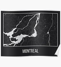 Map of Montreal, Quebec Poster