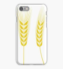 Ears of Wheat Isolated on White Background. iPhone Case/Skin