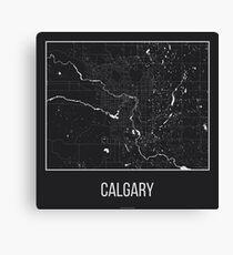 Map of Calgary, Alberta Canvas Print