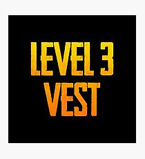 LEVEL 3 VEST - PUBG Design Photographic Print