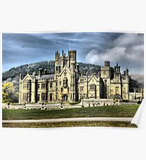 castle hdr margam park red bubble meet port talbot Poster