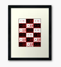 Cassette Tapes Pattern Framed Print