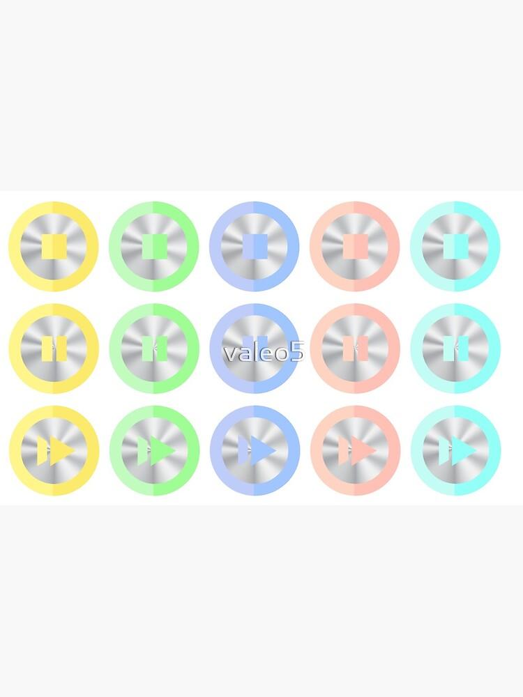 Set of Colorful Media Icons Isolated on White Background. by valeo5