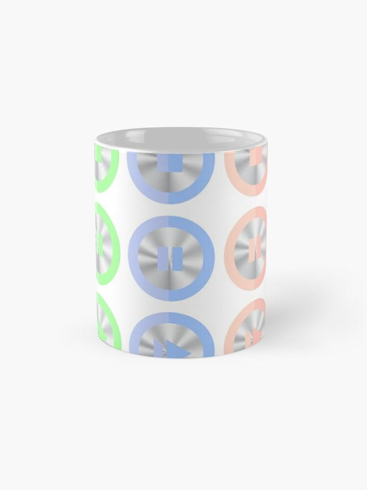 Alternate view of Set of Colorful Media Icons Isolated on White Background. Mug